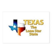 State - Texas - Lone Star Postcards (Package of 8)