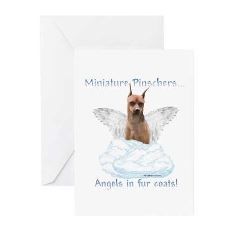Min Pin Angel Greeting Cards (Pk of 10)