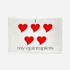 I Heart My Quints Rectangle Magnet