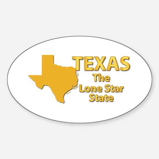 State - Texas - Lone StarState Sticker (Oval)
