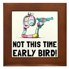 Early Bird Worm Framed Tile