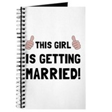Girl Getting Married Journal