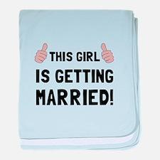Girl Getting Married baby blanket