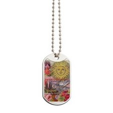 Spain Vintage Trendy Spain Travel Collage Dog Tags