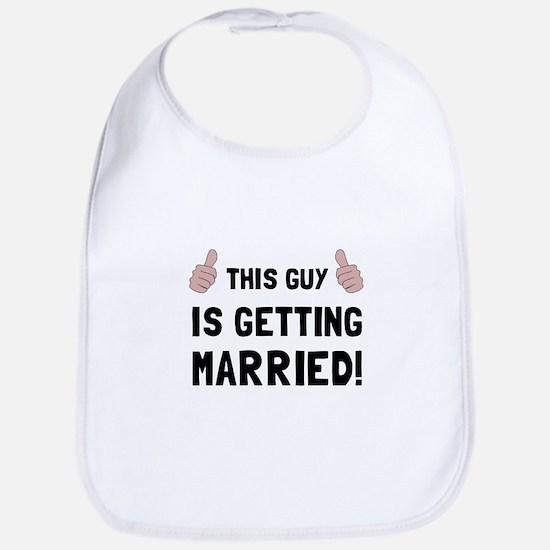 Guy Getting Married Bib