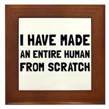 Human Scratch Framed Tile