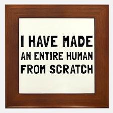 Human Scratch Framed Tile