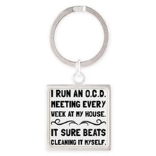 OCD Cleaning House Keychains