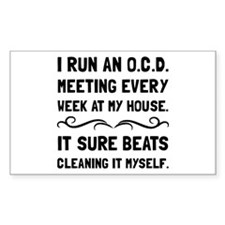 OCD Cleaning House Decal