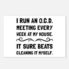 OCD Cleaning House Postcards (Package of 8)