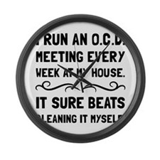 OCD Cleaning House Large Wall Clock