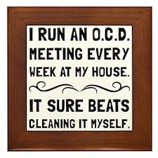 OCD Cleaning House Framed Tile