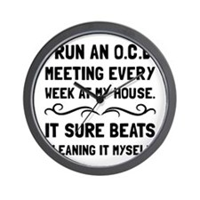 OCD Cleaning House Wall Clock