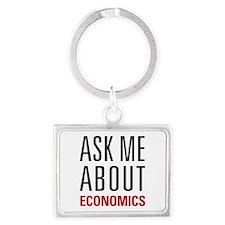 Economics - Ask Me About - Landscape Keychain