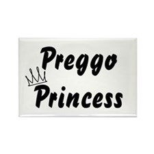 Preggo Princess Rectangle Magnet