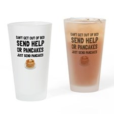 Send Pancakes Drinking Glass