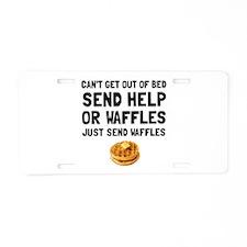 Send Waffles Aluminum License Plate