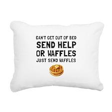 Send Waffles Rectangular Canvas Pillow