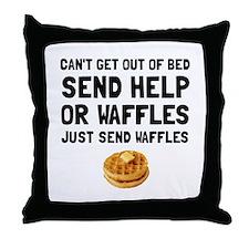 Send Waffles Throw Pillow
