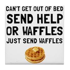 Send Waffles Tile Coaster