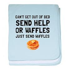 Send Waffles baby blanket