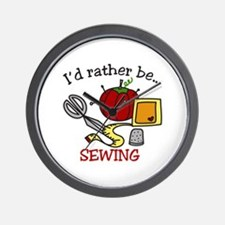 Rather Be Sewing Wall Clock