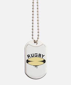 Rugby ball Dog Tags