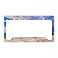 Island Beach Walk License Plate Holder