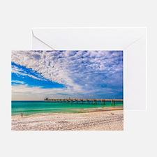 Island Beach Walk Greeting Card