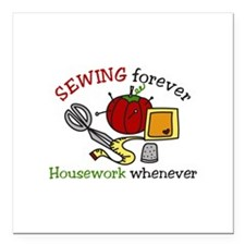 """Sewing Forever Square Car Magnet 3"""" x 3"""""""