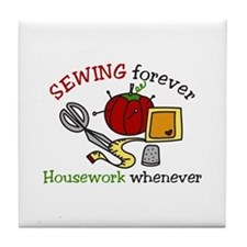Sewing Forever Tile Coaster