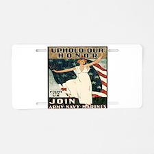 vintage u.s. military Aluminum License Plate