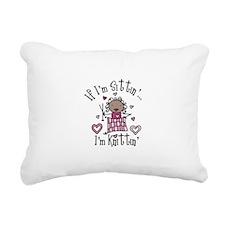Im Knittin Rectangular Canvas Pillow