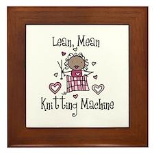 Knitting Machine Framed Tile