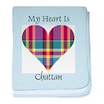 Heart - Chattan baby blanket