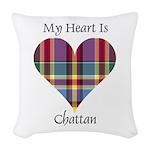 Heart - Chattan Woven Throw Pillow