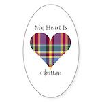 Heart - Chattan Sticker (Oval 50 pk)
