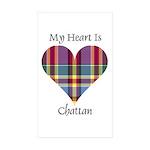 Heart - Chattan Sticker (Rectangle 50 pk)