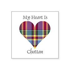 """Heart - Chattan Square Sticker 3"""" x 3"""""""