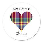 Heart - Chattan Round Car Magnet