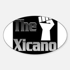 The Xicano Oval Decal