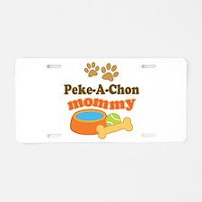 Peke-A-Chon mom Aluminum License Plate