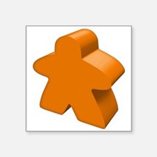"Orange Meeple Square Sticker 3"" x 3"""
