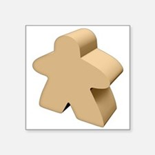 "Unpainted Meeple Square Sticker 3"" x 3"""
