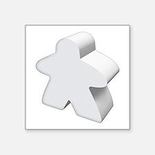 White Meeple Sticker