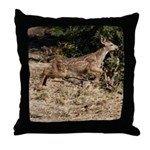 Flying Fawn Throw Pillow