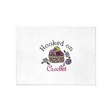 Hooked On Crochet 5'x7'Area Rug