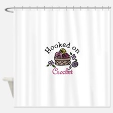 Hooked On Crochet Shower Curtain