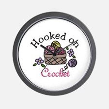 Hooked On Crochet Wall Clock