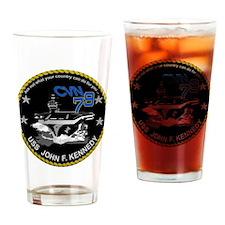 CVN 79 John F Kennedy Drinking Glass